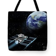 Space Exploration, Earth, Illustration Tote Bag