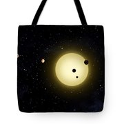 Space Kepler 11 Introduction Tote Bag