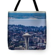 Space Needle 12th Man Seahawks Tote Bag