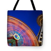 Space Needle And Wheel Tote Bag
