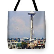 Space Needle Seattle Tote Bag