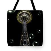 Space Needle With Bubbles 1 Tote Bag