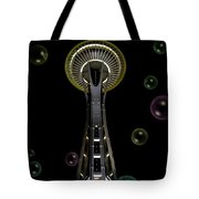 Space Needle With Bubbles 2 Tote Bag