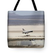 Space Shuttle Atlantis Landing Tote Bag