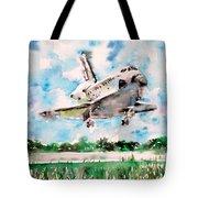 Space Shuttle Landing Tote Bag