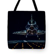 Space Shuttle Night Landing Tote Bag
