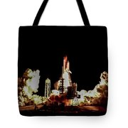 Space Shuttle Night Launch Tote Bag