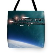 Space Station Communications Antenna Tote Bag by Antony McAulay