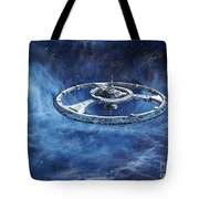 Deep Space Eight Station Of The Future Tote Bag
