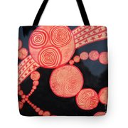 Space Trains Tote Bag