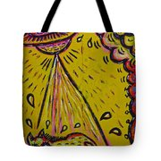 Spaceship Dog Graffiti Tote Bag