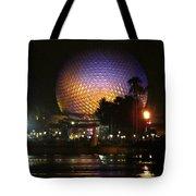 Spaceship Earth At Night Tote Bag