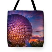 Spaceship Earth Glow Tote Bag