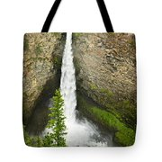 Spahats Falls Waterfall In Wells Gray Provincial Park Tote Bag