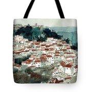 Spanish Hillside Village Tote Bag
