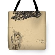 Spaniel And Chow, 1930, Illustrations Tote Bag