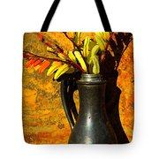Spanish Flags In Pewter  Tote Bag