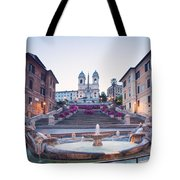 Spanish Steps Famous Stairway Rome Italy Tote Bag
