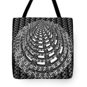 Sparkle Bnw White Pyramid Dome Ancient Arch Architecture Formation Obtained During Deep Meditation W Tote Bag