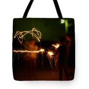 Sparklers Tote Bag by Valeria Donaldson