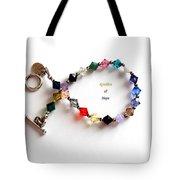 Sparkles Of Hope Cancer Bracelet Tote Bag by Barbara Griffin