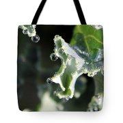 Sparkling Dew On Decorative Kale Tote Bag