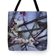 Sparrow And The Beauty Berry Tote Bag