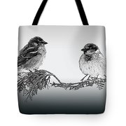 Sparrow Digital Art Tote Bag