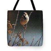 Sparrow On A Twig Tote Bag
