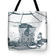 Sparrows In Charcoal Tote Bag
