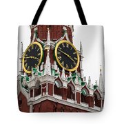 Spassky - Savior's - Tower Of Moscow Kremlin - Featured 2 Tote Bag