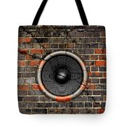 Speaker On A Cracked Brick Wall Tote Bag