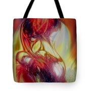 Speaking In Flames Tote Bag