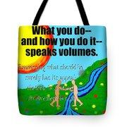 Speaks Volumes Tote Bag
