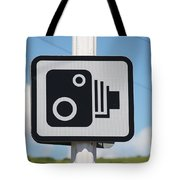 Speed Camera Sign Folkestone Tote Bag