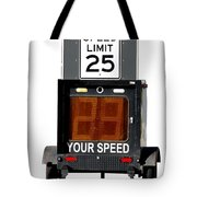 Speed Limit Monitor Tote Bag