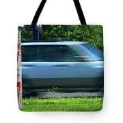 Speeding Gas Prices Tote Bag