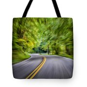 Speeding Through The Forest E42 Tote Bag