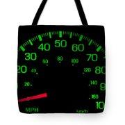 Speedometer On Black Isolated Tote Bag