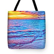 Spencer Beach Sunset Tote Bag