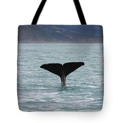 Sperm Whale Diving Tote Bag