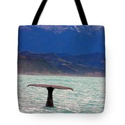 Sperm Whale Diving New Zealand Tote Bag