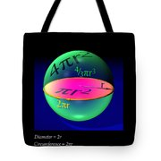 Sphere Equations Maths Poster Black Tote Bag