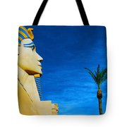 Sphinx And Palm Trees Las Vegas Tote Bag