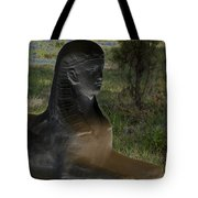 Sphinx Statue Three Quarter Profile Solar Usa Tote Bag