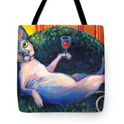 Sphynx Cat Relaxing Tote Bag