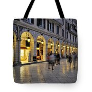 Spianada Square During Dusk Time Tote Bag