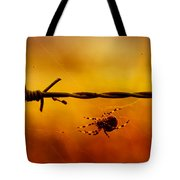 Spider In A Web Tote Bag
