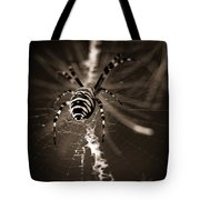 Spider In Waiting Tote Bag