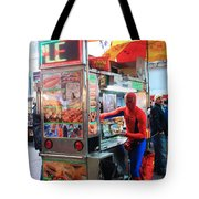 Spider Man Hot Dogs Tote Bag